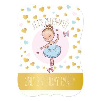 第2チュチュの誕生会|のプリンセスのバレリーナ カード