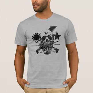 第2レーンジャーの大隊OIF/OEFのTシャツ(灰色) Tシャツ