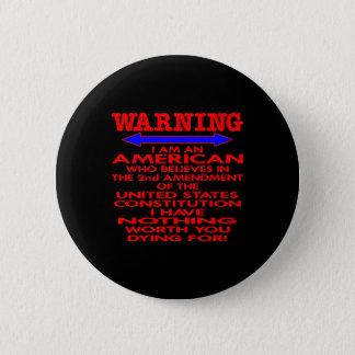 第2修正のアメリカ人を黒くして下さい 5.7CM 丸型バッジ