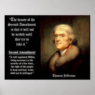 第2修正のトーマス・ジェファーソン ポスター