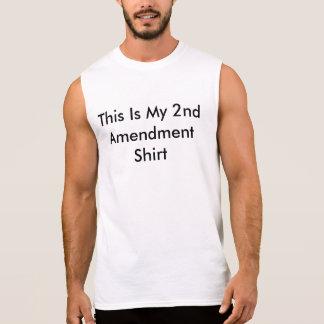 第2修正のワイシャツ 袖なしシャツ