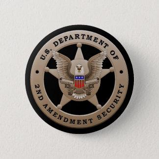 第2修正の保証ボタンの米国Dept 5.7cm 丸型バッジ