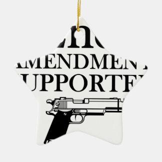 第2修正サポータ-銃権利か憲法 セラミックオーナメント