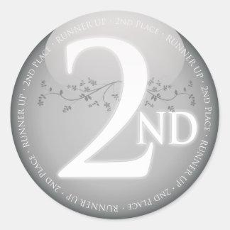 第2場所(第2)賞に銀を着せて下さい ラウンドシール
