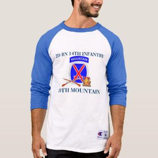 第2大隊の第14歩兵第10山のワイシャツ Tシャツ