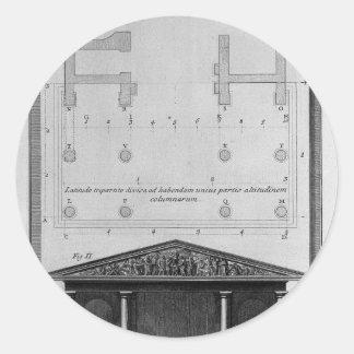 第2寺院トスカナの計画そして高度 ラウンドシール