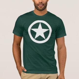 第2次世界大戦のジープの星 Tシャツ
