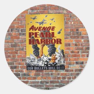 第2次世界大戦の戦時のプロパガンダポスター ラウンドシール