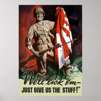第2次世界大戦の軍隊 -- 私達はそれらを舐めます ポスター
