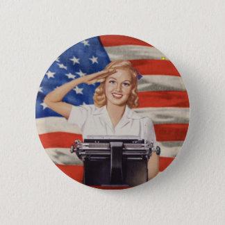 第2次世界大戦の速記者ボタン 缶バッジ
