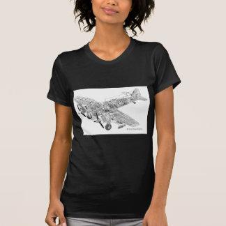 第2次世界大戦RAFブリストルBeaufighterの断面図 Tシャツ