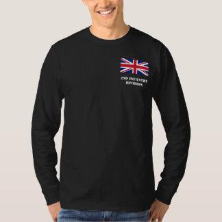 第2歩兵部隊-イギリスの長袖のティー Tシャツ