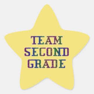 第2等級、黄色いノベルティの学校のステッカーを団結して下さい 星シール