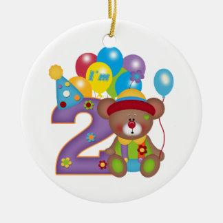 第2誕生日くまのピエロの誕生日 セラミックオーナメント