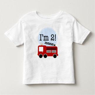 第2誕生日の普通消防車 トドラーTシャツ