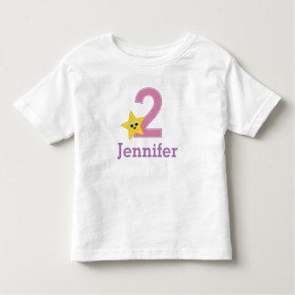 第2誕生日、2歳児、女の子 トドラーTシャツ