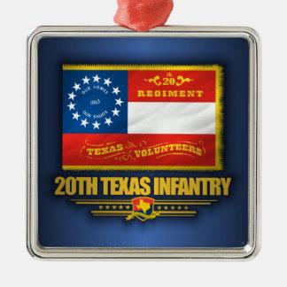 第20テキサス州の歩兵 メタルオーナメント