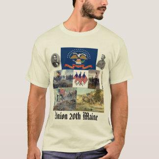 第20メインの有志の歩兵連隊の内戦 Tシャツ