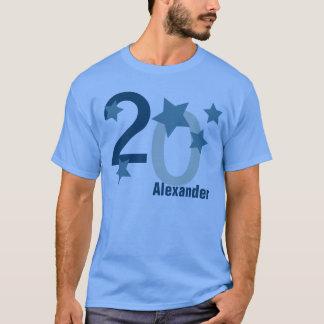 第20星青いV001Gとの誕生日 Tシャツ