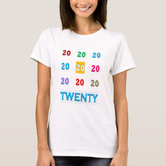 第20第20 XX誕生日記念日エレガントなGif Tシャツ
