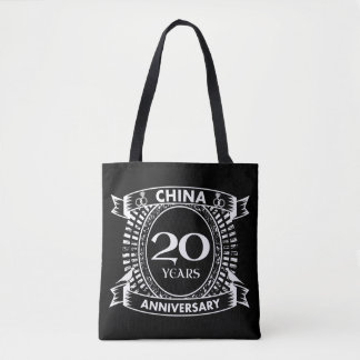 第20結婚記念日の中国 トートバッグ