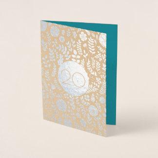 第20結婚記念日の挨拶状 箔カード