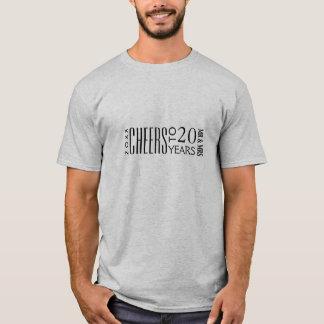 第20記念日のギフトのTシャツへの応援 Tシャツ