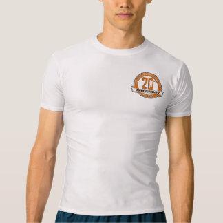 第20記念日の人の圧縮のTシャツ Tシャツ