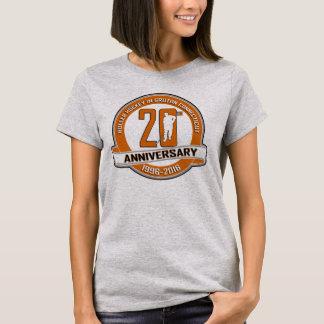 第20記念日の女性のTシャツ Tシャツ