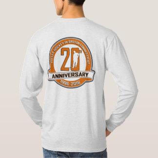 第20記念日の長袖のTシャツの前部か背部 Tシャツ