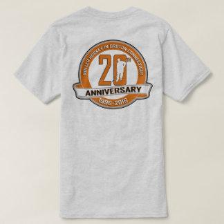 第20記念日のTシャツの前部か背部 Tシャツ
