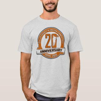 第20記念日のTシャツ-大きい前部ロゴ Tシャツ