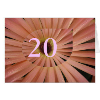 第20誕生日 カード