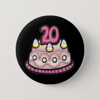 第20誕生日 5.7CM 丸型バッジ