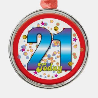 第21今日誕生日v2 メタルオーナメント
