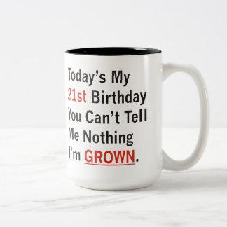 第21私が育つ誕生日 ツートーンマグカップ