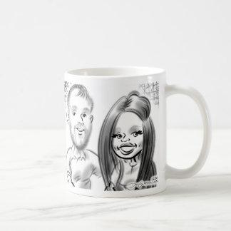 第21誕生会はマグ2014年をカリチュア風に描きます コーヒーマグカップ