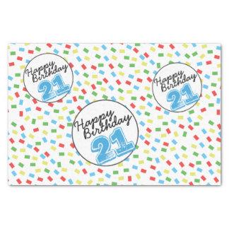 第21誕生日のティッシュペーパーのフェスティバルのカラフル 薄葉紙
