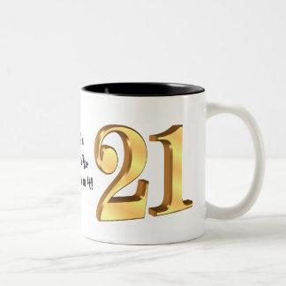 第21誕生日のマグ ツートーンマグカップ