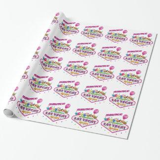 第21誕生日のラスベガスの包装紙を祝うこと ラッピングペーパー