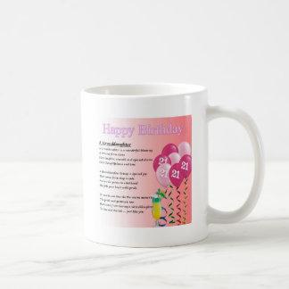 第21誕生日の孫娘の詩 コーヒーマグカップ