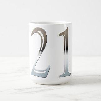 第21誕生日の銀製の第21 コーヒーマグカップ