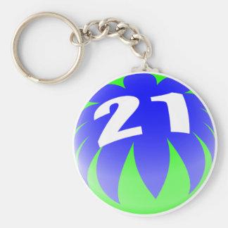 第21誕生日プレゼント、ビーチボール21! キーホルダー