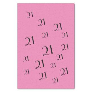 第21誕生日数パターンを飾って下さい 薄葉紙