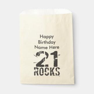第21誕生日- 21個の石 フェイバーバッグ