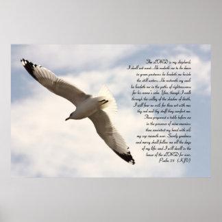 第23急上昇した海カモメとの賛美歌の聖書の詩 ポスター