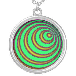 第23螺線形 シルバープレートネックレス