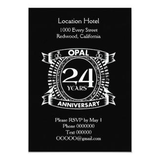 第24結婚記念日のオパール カード