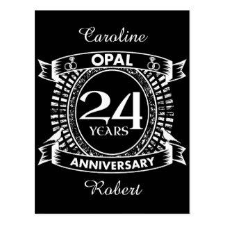 第24結婚記念日のオパール ポストカード