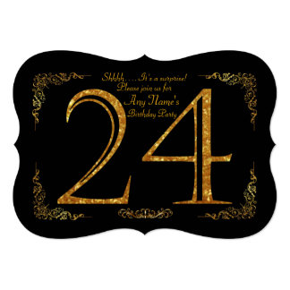 第24、誕生会第24、素晴らしいのGatsby、黒及び金ゴールド カード